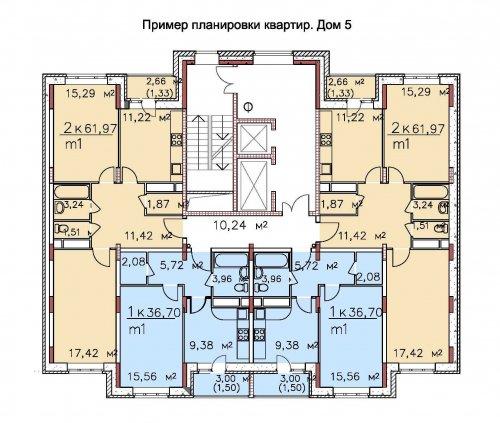 Жилые дома №№ 1, 5, 6. мкр.